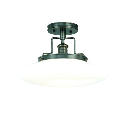 Maryellen 12 Semi Flush Mount Finish: Polished Nickel, Size: 9.5H x 15W