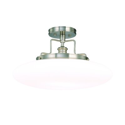 Maryellen 18 1-Light Semi Flush Mount Finish: Polished Nickel