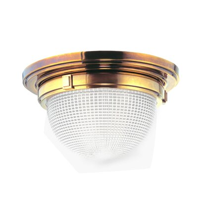 Hesson 1-Light Flush Mount Finish: Aged Brass