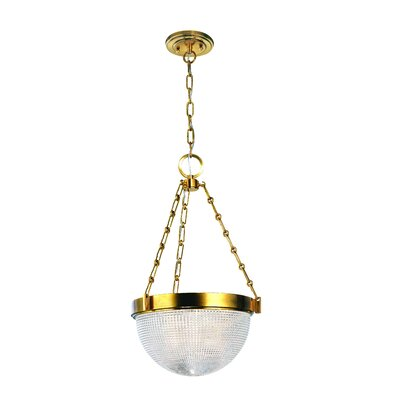 Hesson 3-Light Inverted Pendant Finish: Aged Brass