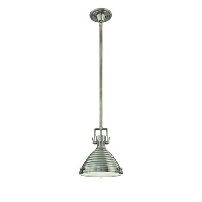 Dimas 1-Light Metal Pendant Finish: Antique Nickel