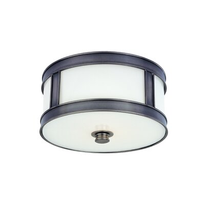 Hoeppner 1-Light Flush Mount Finish: Historic Nickel