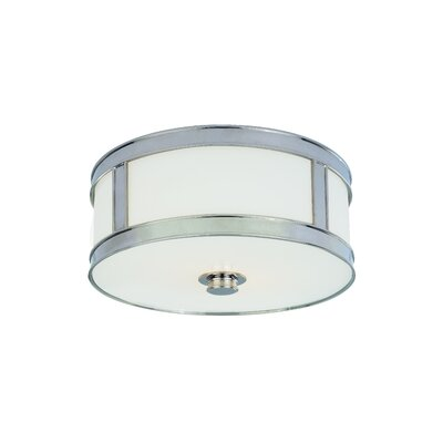 Patterson 2-Light Flush Mount Finish: Polished Nickel