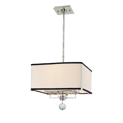 Emsley 4-Light Drum Pendant Size / Finish: 15.75 x 14 / Polished Nickel