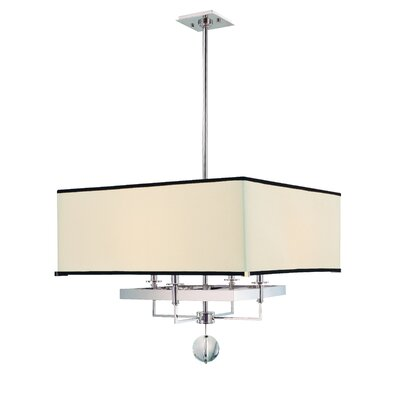 Emsley 4-Light Drum Pendant Size / Finish: 21 x 24 / Polished Nickel
