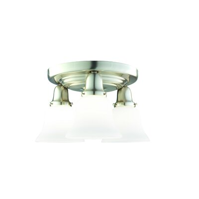Mckenna 3-Light Semi-Flush Mount Finish: Satin Nickel