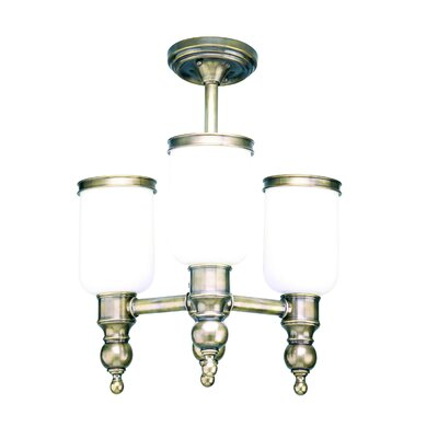 Chatham 3-Light Semi Flush Mount Finish: Antique Nickel