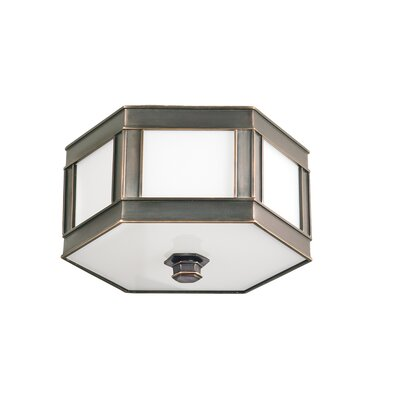 Cashion 1-Light Flush Mount Finish: Old Bronze