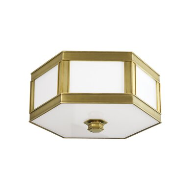 Cashion 2-Light Flush Mount Finish: Aged Brass