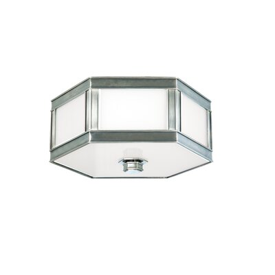 Cashion 2-Light Flush Mount Finish: Historic Nickel