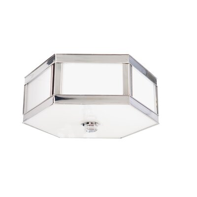 Cashion 3-Light Flush Mount Finish: Polished Nickel