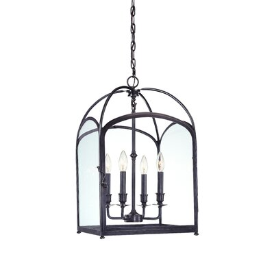 Eugenie 4-Light Foyer Pendant Size: 22, Finish: Old Bronze