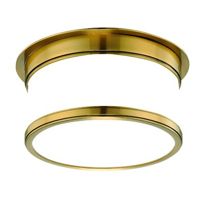 Geneva Flush Mount Size / Finish: 5.25 x 15.25 / Aged Brass