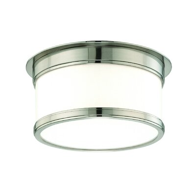 Eugenia Flush Mount Size / Finish: 4.75 x 9.25 / Satin Nickel