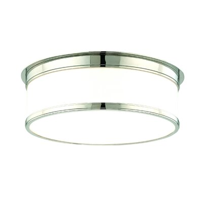 Eugenia Flush Mount Size / Finish: 5.25 x 15.25 / Polished Nickel