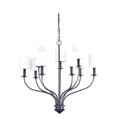 Hockett 9-Light Shaded Chandelier Finish: Old Bronze