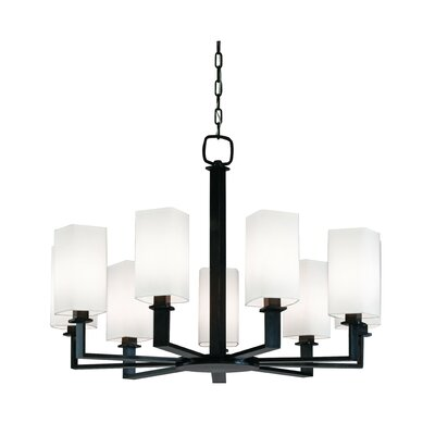 Caskey 9-Light Shaded Chandelier Finish: Old Bronze