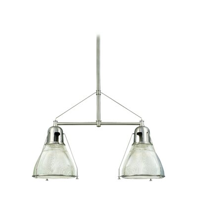 Margo 2-Light Kitchen Island Pendant Finish: Satin Nickel