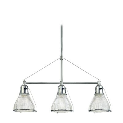 Margo 3-Light Kitchen Island Pendant Finish: Polished Nickel