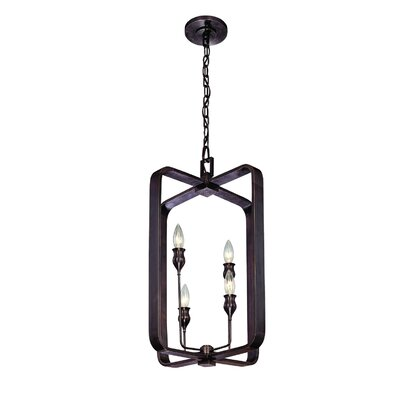 Kolton 4-Light Foyer Pendant Finish: Polished Nickel, Size: 19 H x 12 W