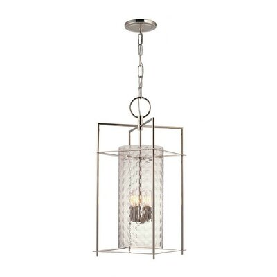 Hassan 4-Light Foyer Pendant Finish: Polished Nickel