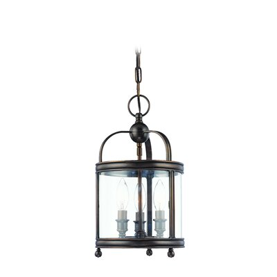 Elyria 3-Light Metal Foyer Pendant Finish: Distressed Bronze