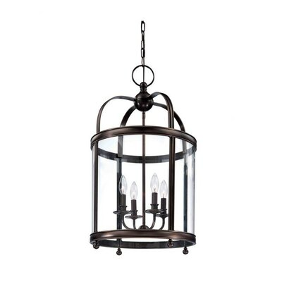 Elyria 4-Light Foyer Pendant Finish: Distressed Bronze