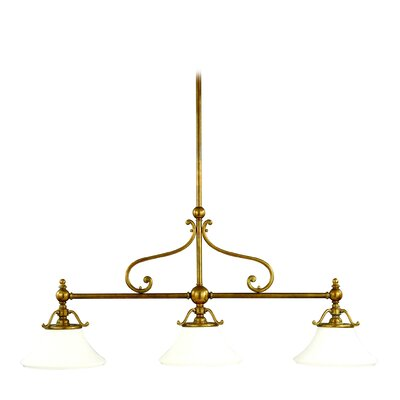Branch 3-Light Kitchen Island Pendant Finish: Aged Brass