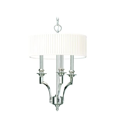 Gherardo 3-Light Drum Pendant Finish: Polished Nickel