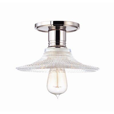 Diogo 1-Light Semi-Flush Mount Finish: Polished Nickel