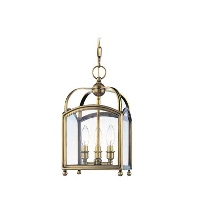 Natalia 3-Light Foyer Pendant Finish: Aged Brass