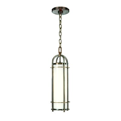 Portland 1-Light Mini Pendant Finish: Historic Nickel, Size: 4.25
