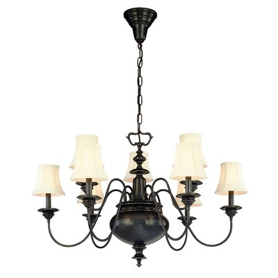 Ellington 9-Light Shaded Chandelier Finish: Old Bronze