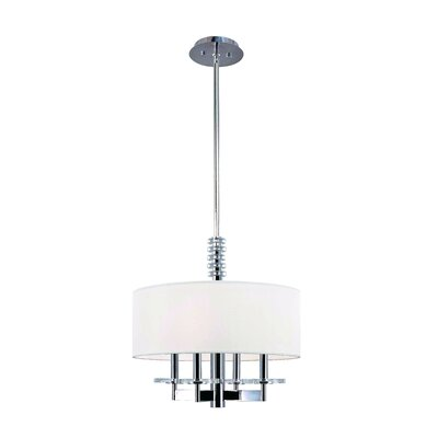 Patricia 4-Light Drum Pendant Finish: Polished Nickel