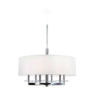 22 lbs Patricia 6-Light Drum Pendant Finish: Polished Nickel