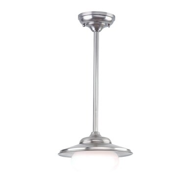 Casarez 1-Light Pendant Finish: Satin Nickel, Size: 11