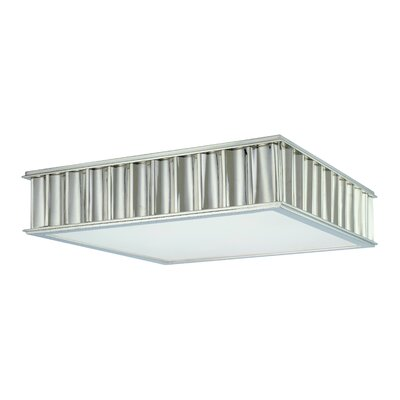 Middlebury 2-Light Square Flush Mount Finish: Historic Nickel, Size: 4H x 16W x 16L