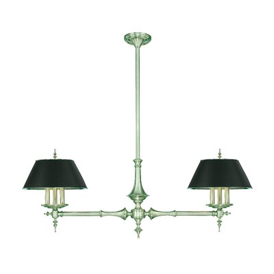 Moura 6 Light Linear Chandelier Finish: Antique Nickel