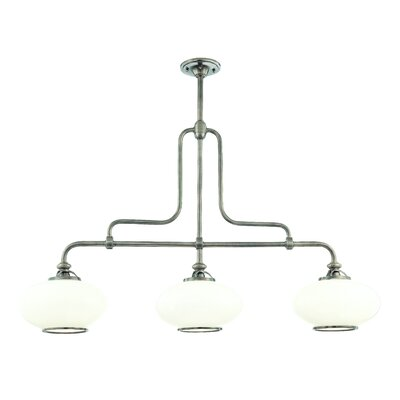 Monica 3-Light Kitchen Island Pendant Finish: Old Nickel