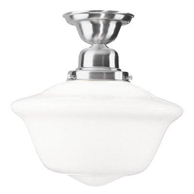 Karen 1-Light Semi Flush Mount Finish: Polished Nickel, Size: 10 H x 9 W