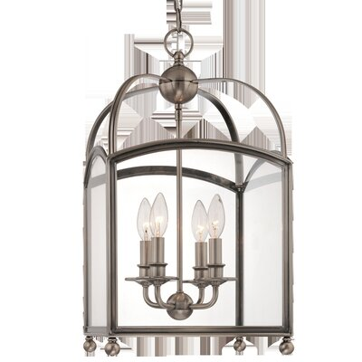 Natalia 4-Light Foyer Pendant Finish: Aged Brass