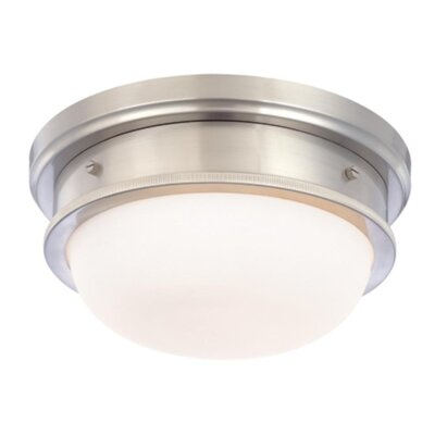 Elisa 2-Light Flush Mount Finish: Satin Nickel