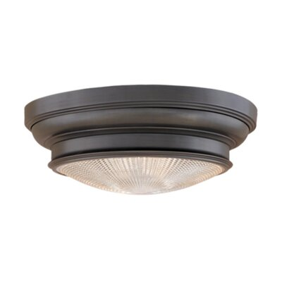 Woodstock 1-Light Flush Mount Finish: Old Bronze