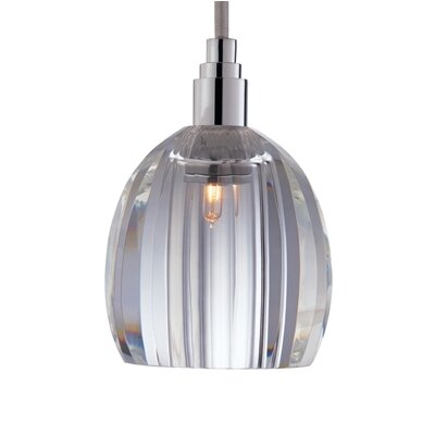 Naples 1-Light Pendant Finish: Satin Nickel, Shade Code: S-005