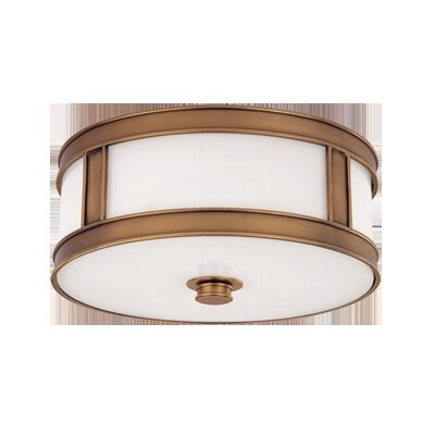 Hoeppner 3-Light Flush Mount Finish: Aged Brass