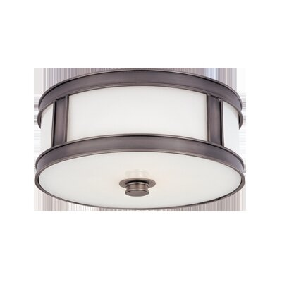 Hoeppner 3-Light Flush Mount Finish: Historic Nickel