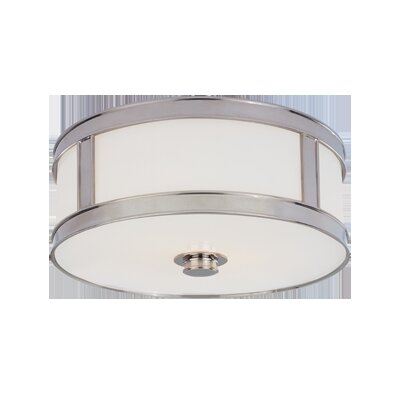 Hoeppner 3-Light Flush Mount Finish: Polished Nickel