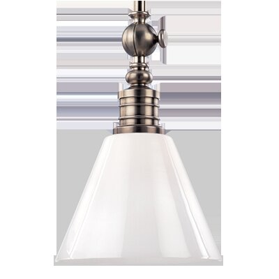 Charley 1-Light Pendant Finish: Historic Nickel