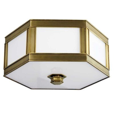 Cashion 3-Light Flush Mount Finish: Aged Brass