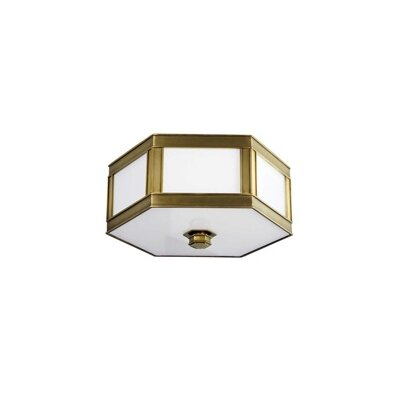 Cashion 1-Light Flush Mount Finish: Aged Brass